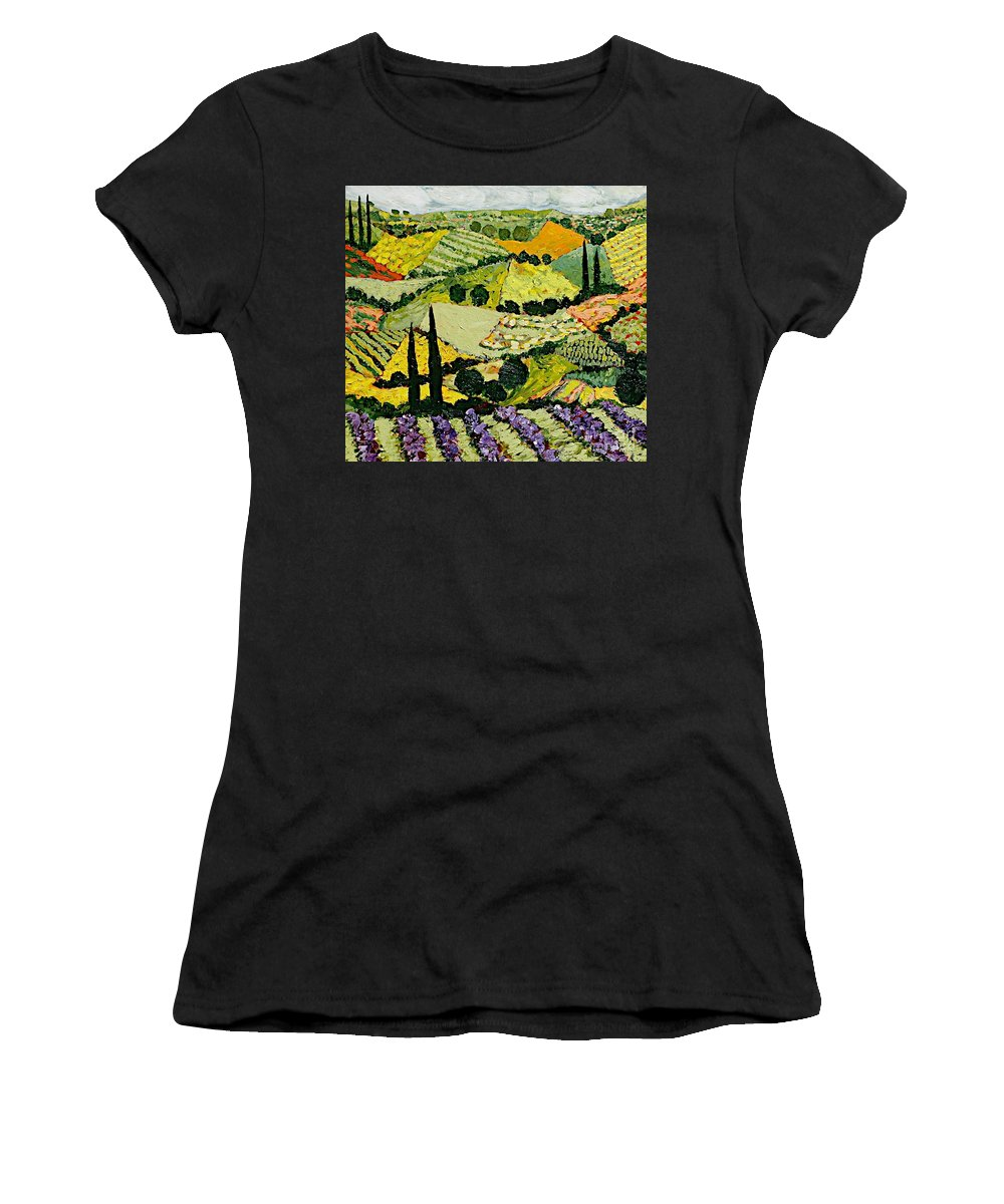 Landscape Women's T-Shirt featuring the painting A New Season by Allan P Friedlander