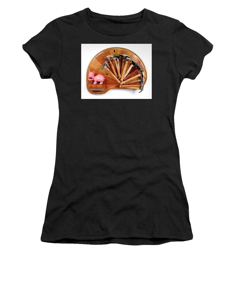 Czappa Women's T-Shirt (Athletic Fit) featuring the relief A Pigs Interest  #64 by Bill Czappa
