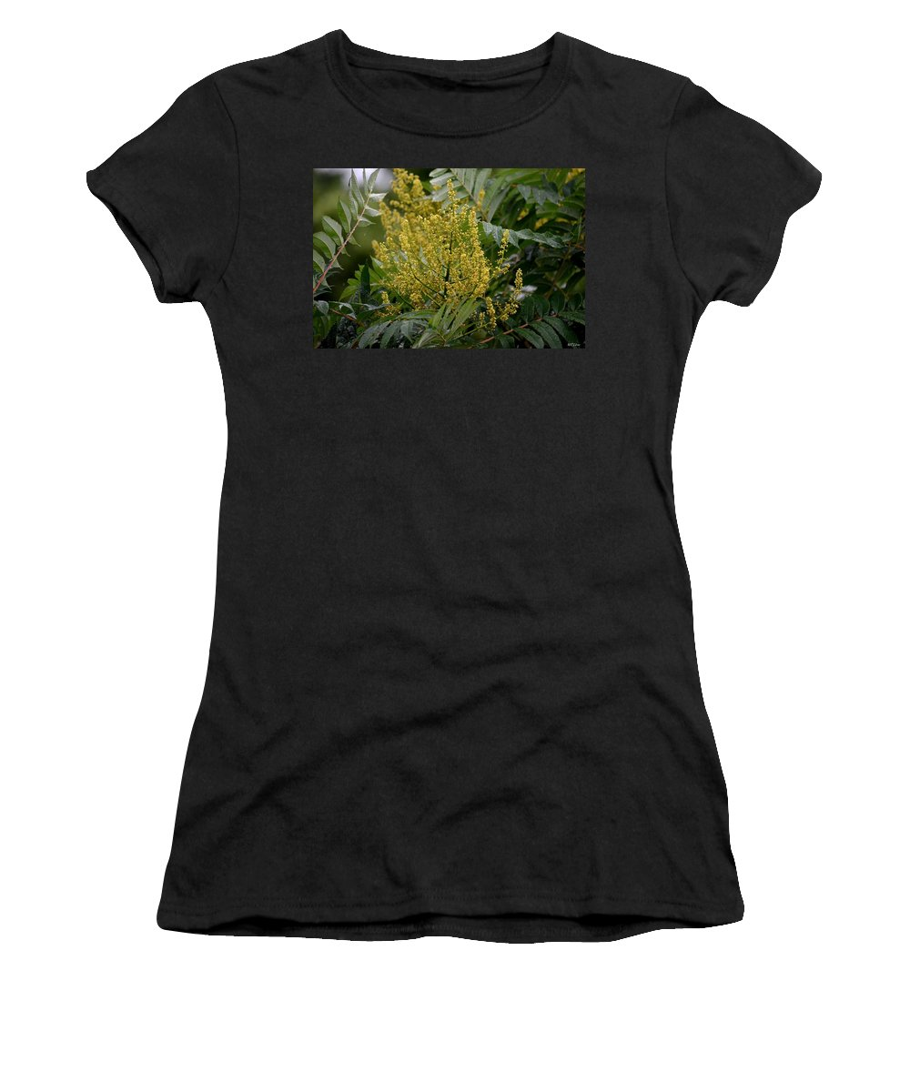 A Rainy Day's Gold Women's T-Shirt featuring the photograph A Rainy Day's Gold by Maria Urso