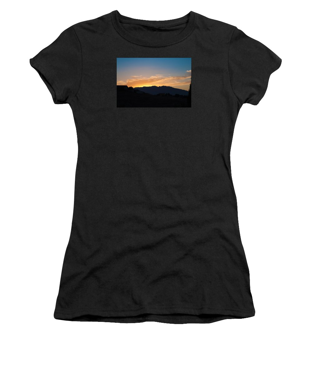 Clouds Women's T-Shirt featuring the photograph A Rural Setting by Jill Mitchell