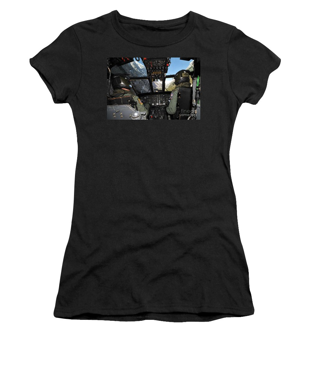 Sea King Women's T-Shirt featuring the photograph A Seaking Mk 4 Helicopter by Paul Fearn