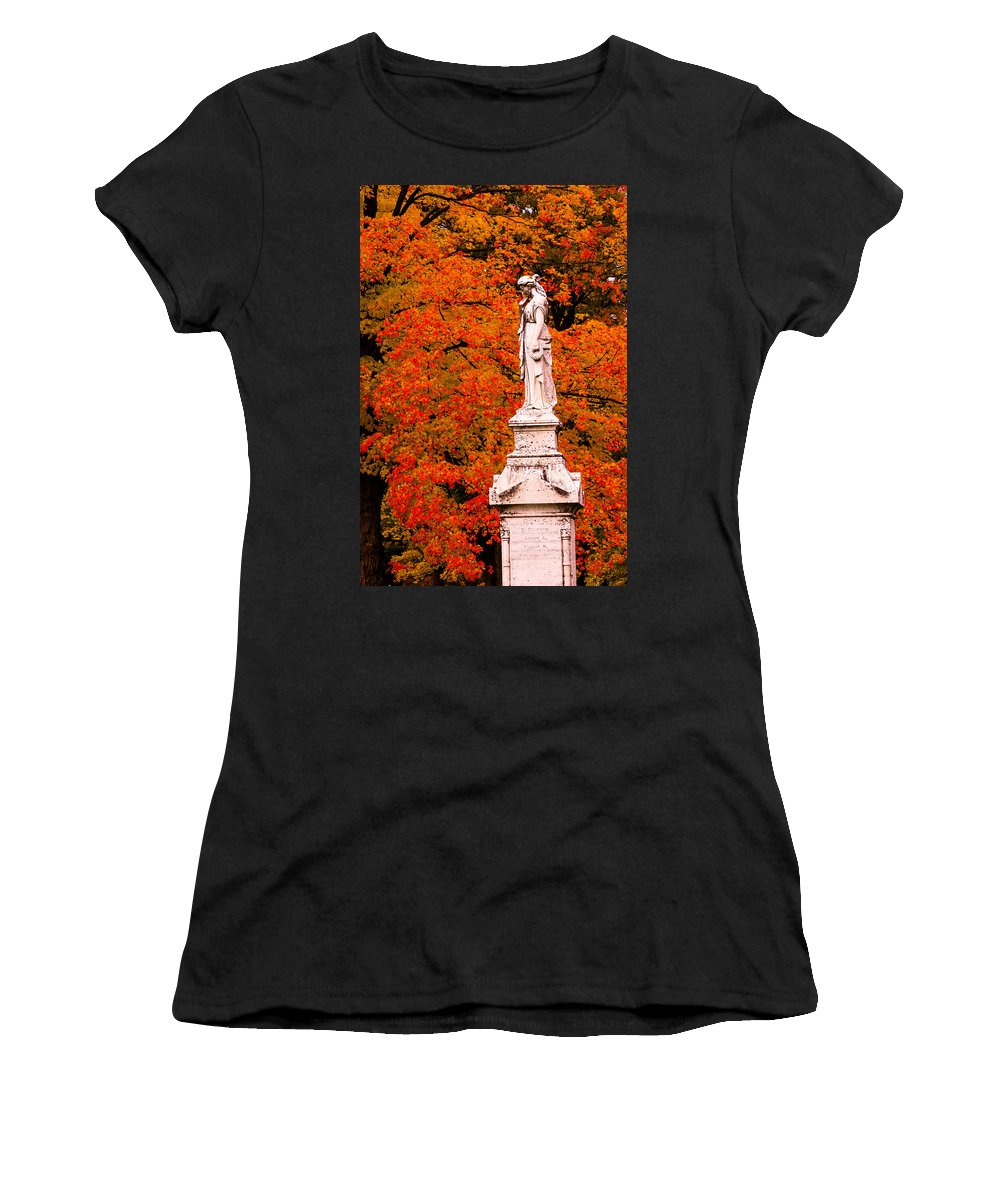 Autumn Foliage Women's T-Shirt featuring the photograph A Tear For The Children by Jeff Folger