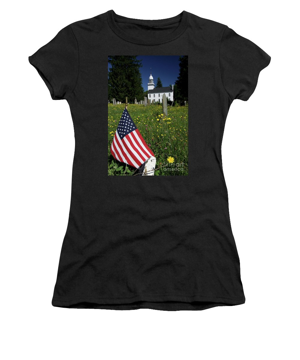 Country Women's T-Shirt featuring the photograph A Veteran's Scene by Karol Livote