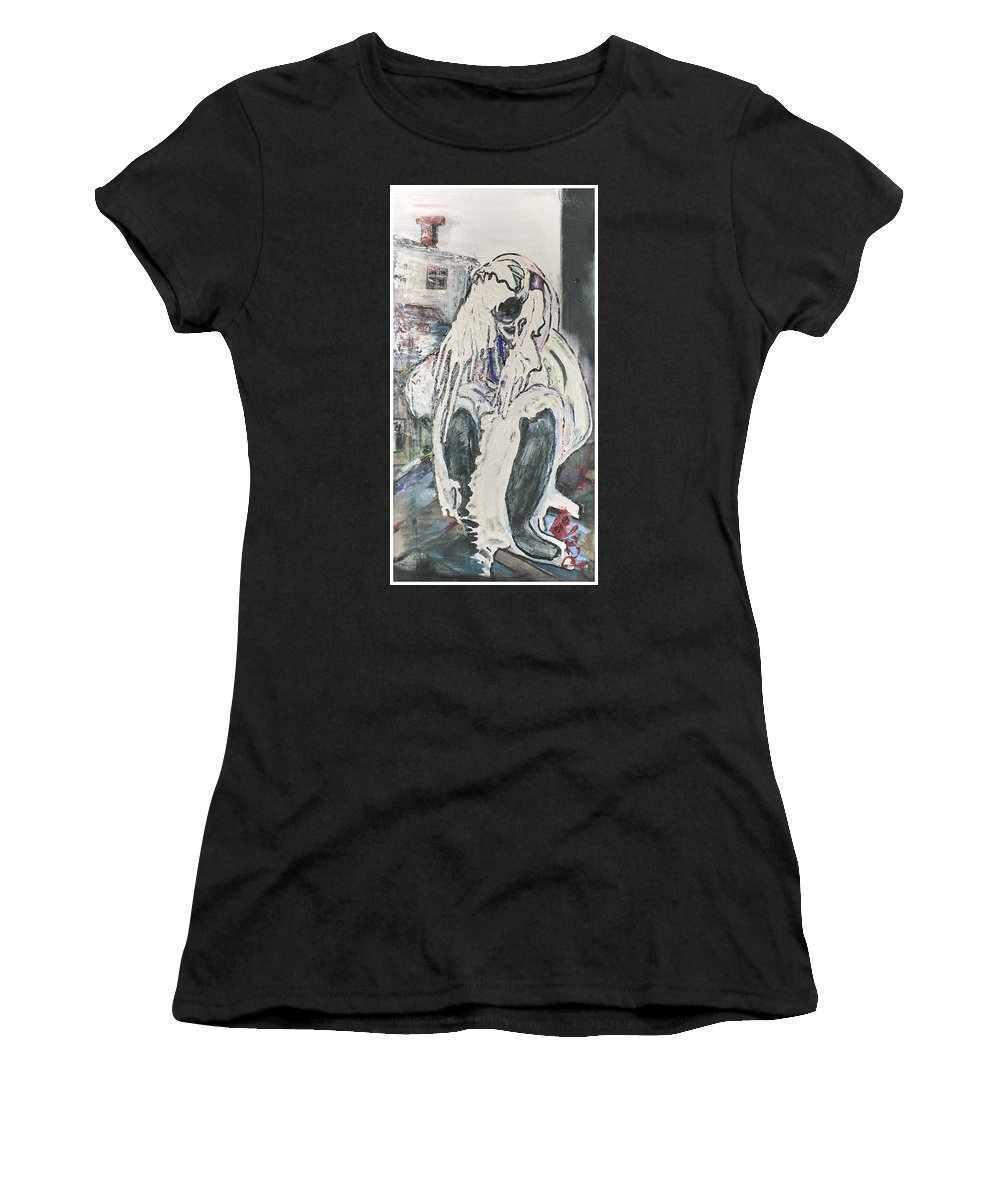 Figurative Women's T-Shirt (Athletic Fit) featuring the painting Aasimah by Peggy Blood