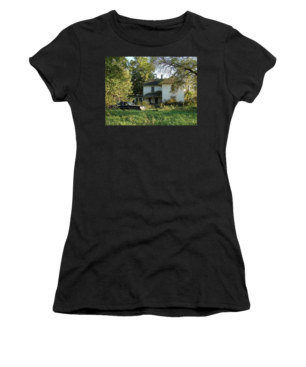 Abandoned Women's T-Shirt (Athletic Fit) featuring the photograph Abandoned by Cassie Peters