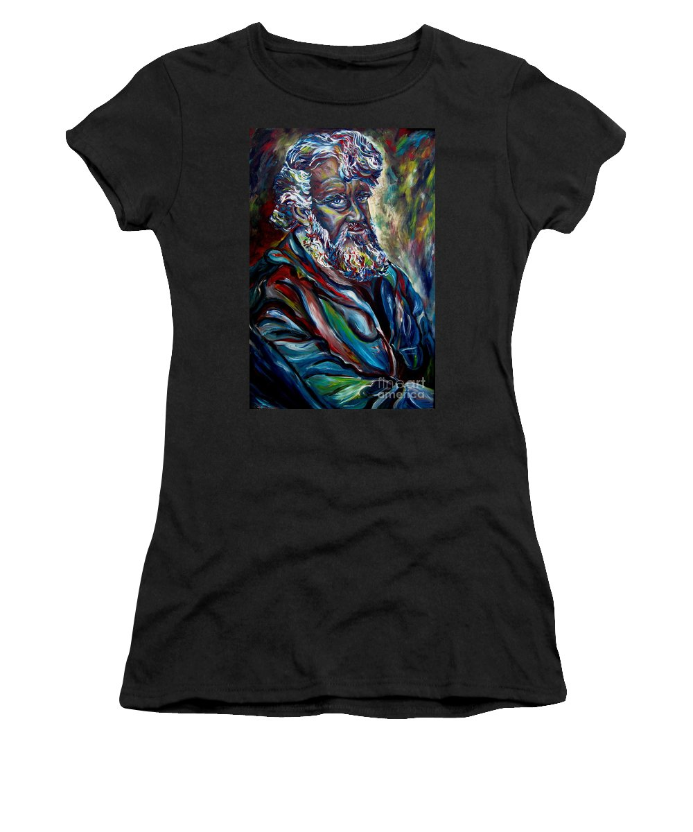 Abraham Patriarh Women's T-Shirt (Athletic Fit) featuring the painting Abraham Patriarch by Carole Spandau