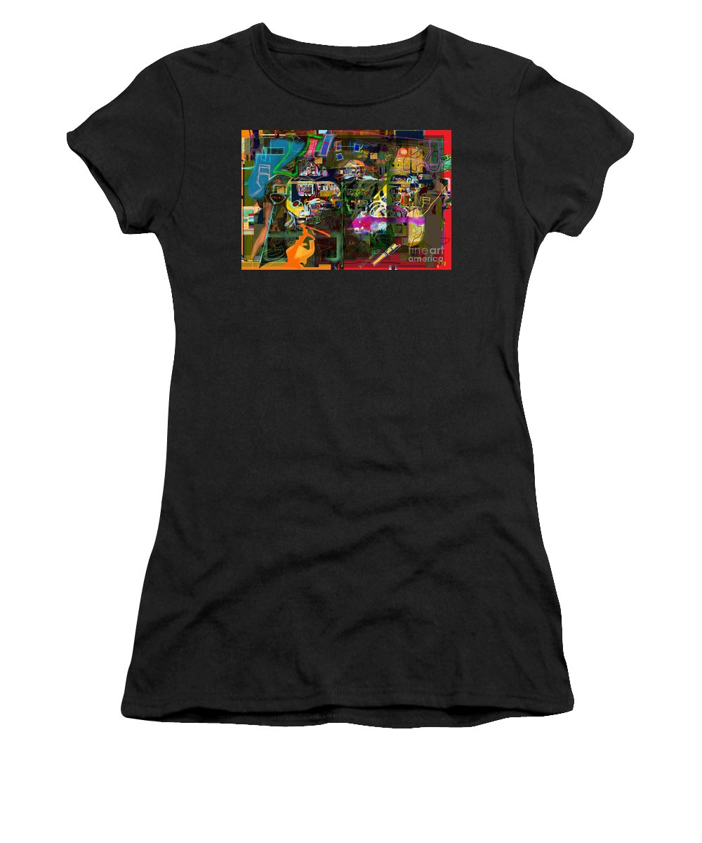 Torah Women's T-Shirt featuring the digital art  Tefilla Without Cavona 7b N by David Baruch Wolk
