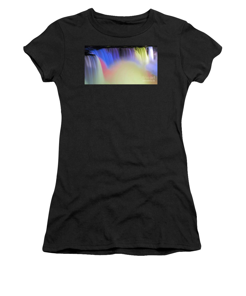 Niagara Women's T-Shirt (Athletic Fit) featuring the photograph Abstract Falls by Kathleen Struckle