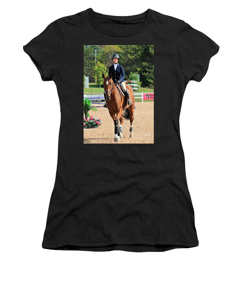 Horse Women's T-Shirt (Athletic Fit) featuring the photograph Ac-medal15 by Janice Byer