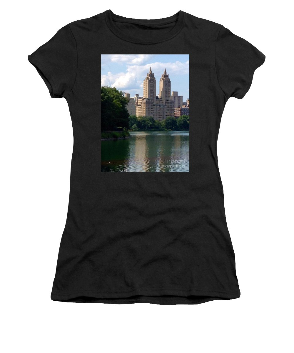 Reservoir Women's T-Shirt featuring the photograph Across The Reservoir by Christy Gendalia