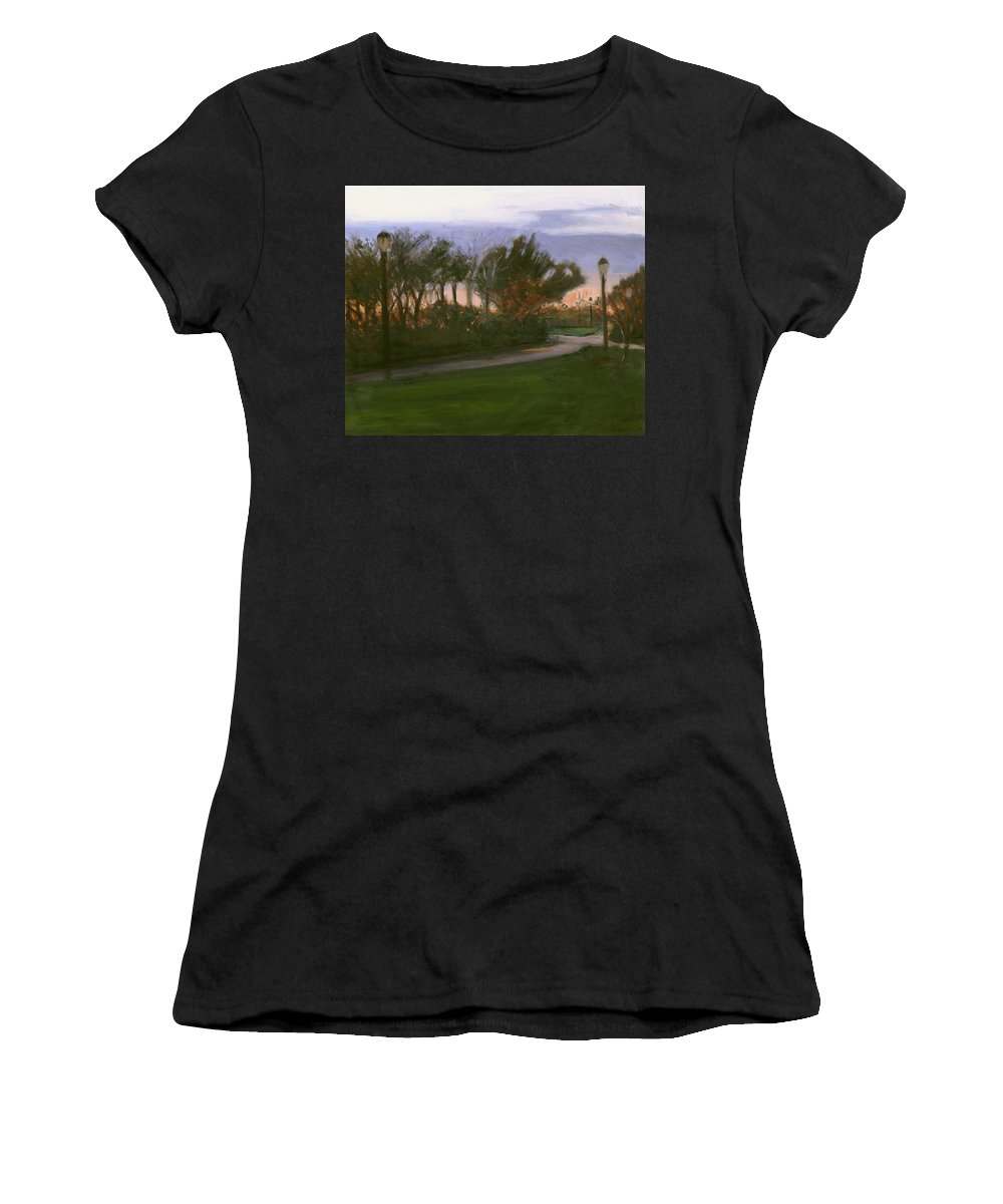 June Women's T-Shirt featuring the painting After The Rain by Sarah Yuster