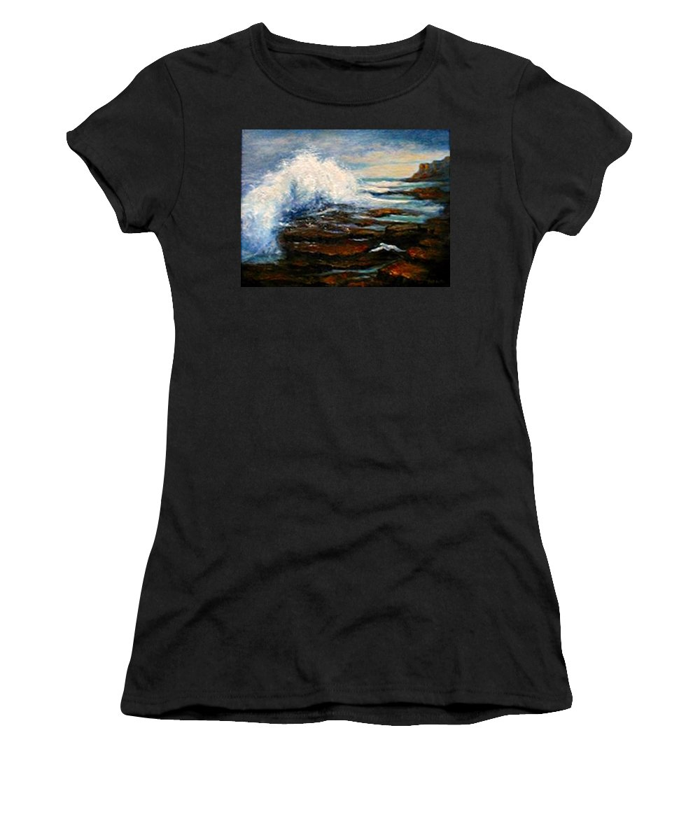 Seascape Women's T-Shirt (Athletic Fit) featuring the painting After The Storm by Gail Kirtz