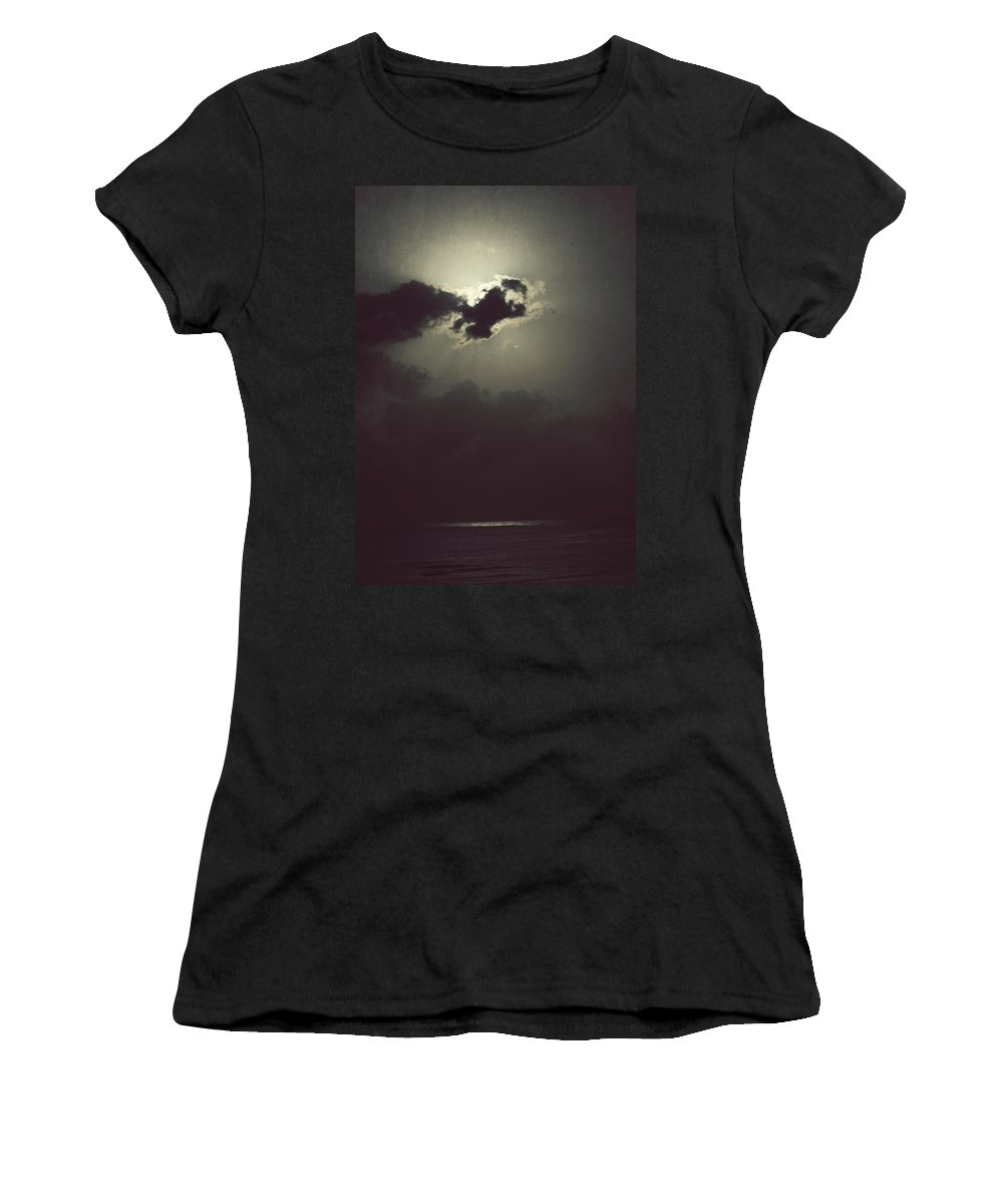 Moon Women's T-Shirt (Athletic Fit) featuring the photograph After The Storm by Melanie Lankford Photography