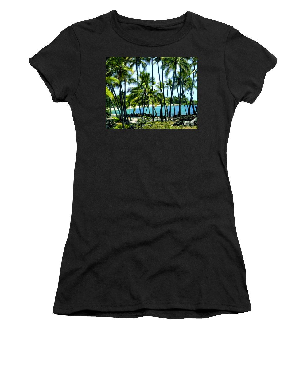 Hawaii Women's T-Shirt (Athletic Fit) featuring the photograph Afternoon At Kakaha Kai by Kurt Van Wagner
