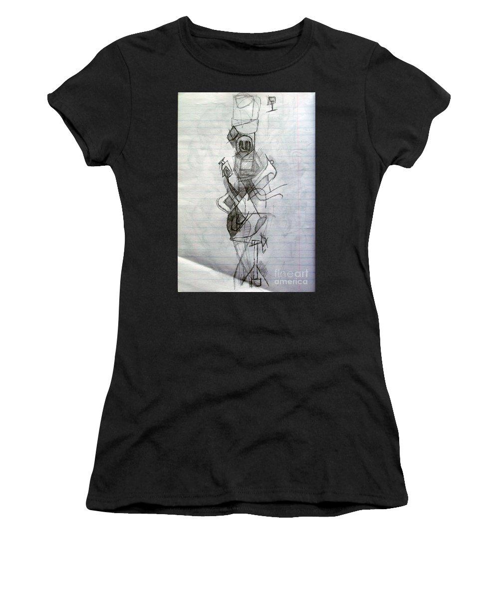 Torah Women's T-Shirt featuring the drawing Self-renewal 23 by David Baruch Wolk