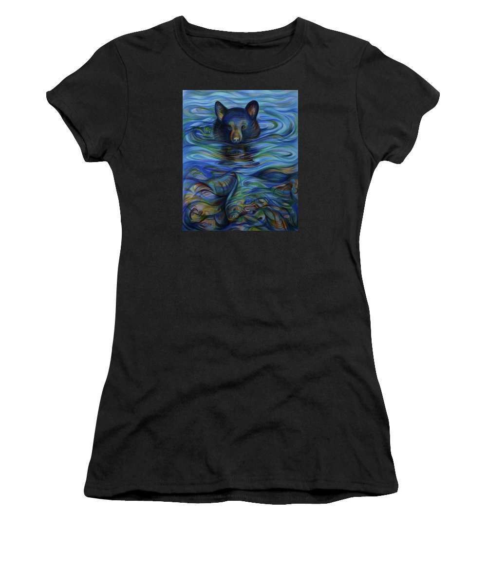 Alaska Stories Women's T-Shirt (Athletic Fit) featuring the drawing Alaska Stories. Part Two by Anna Duyunova