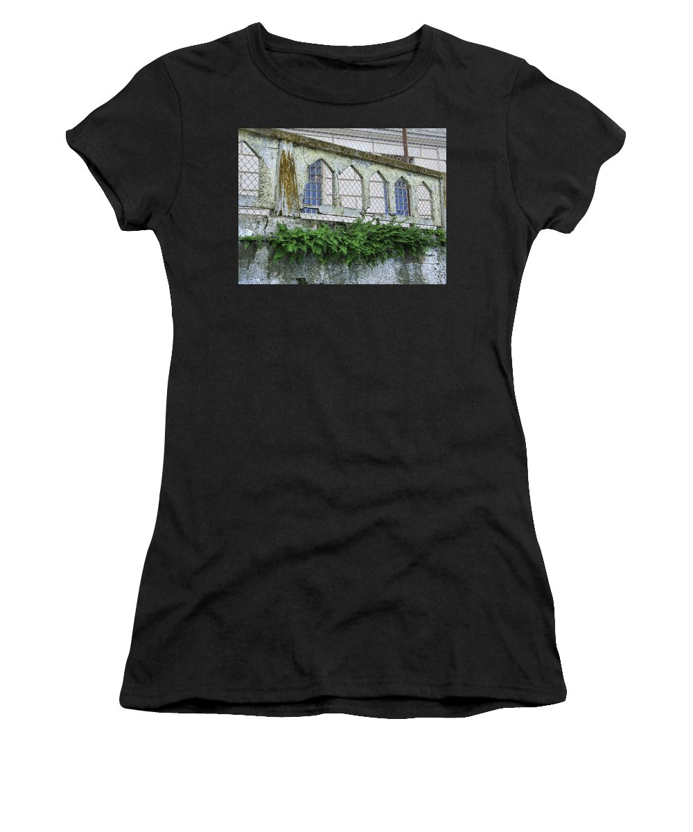 Fern Women's T-Shirt (Athletic Fit) featuring the photograph Alcatraz Fern by Daniel Hagerman