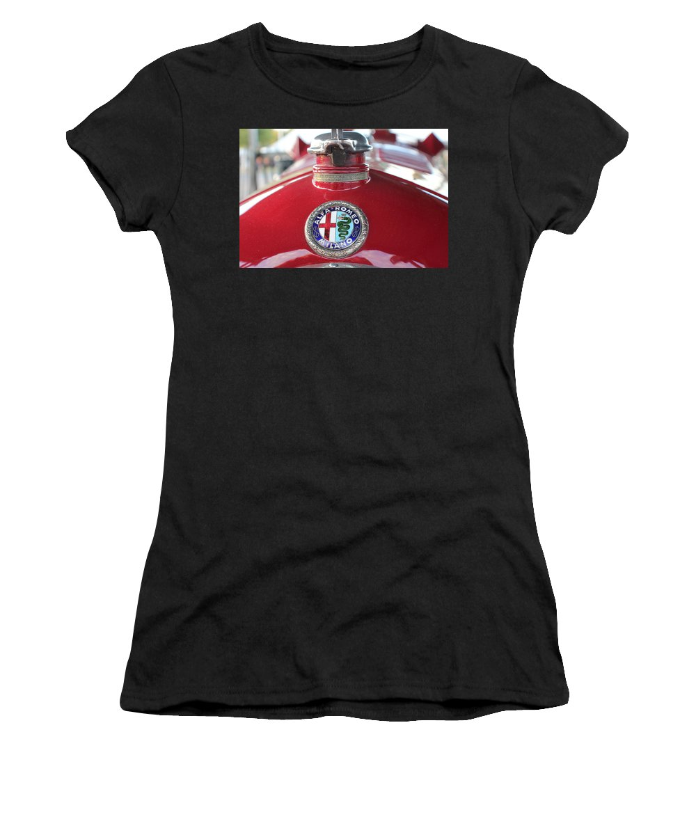 Alfa Romeo Women's T-Shirt (Athletic Fit) featuring the photograph Alfa Milano by Robert Phelan