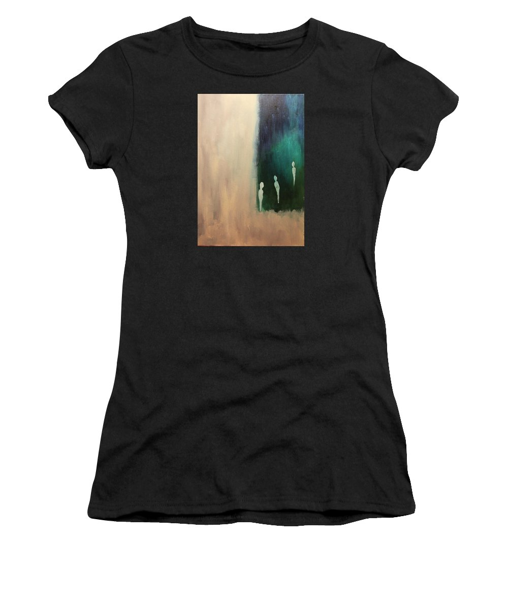 2007 Women's T-Shirt (Athletic Fit) featuring the painting Alienation by Will Felix