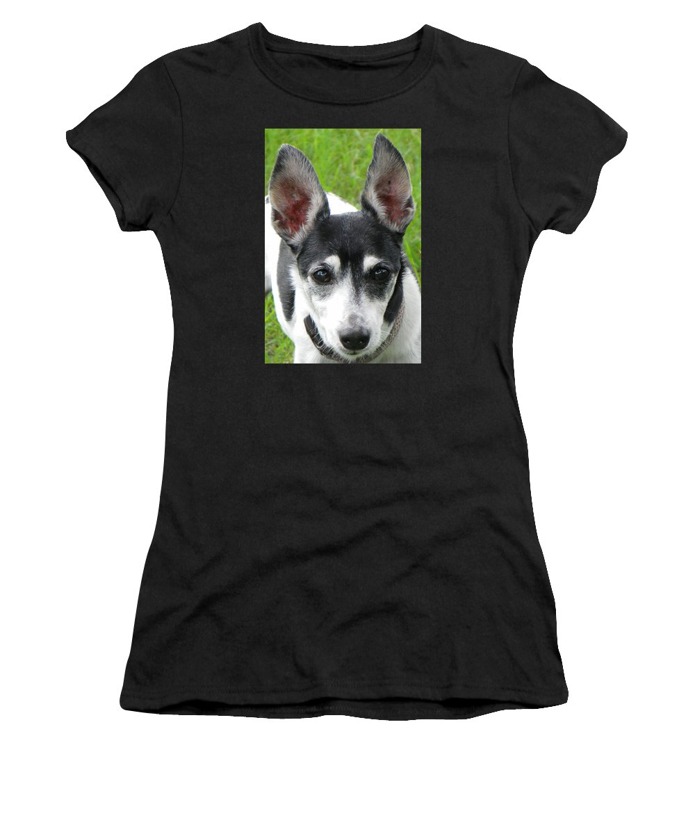 Dog Women's T-Shirt (Athletic Fit) featuring the photograph All Ears by Rosalie Scanlon