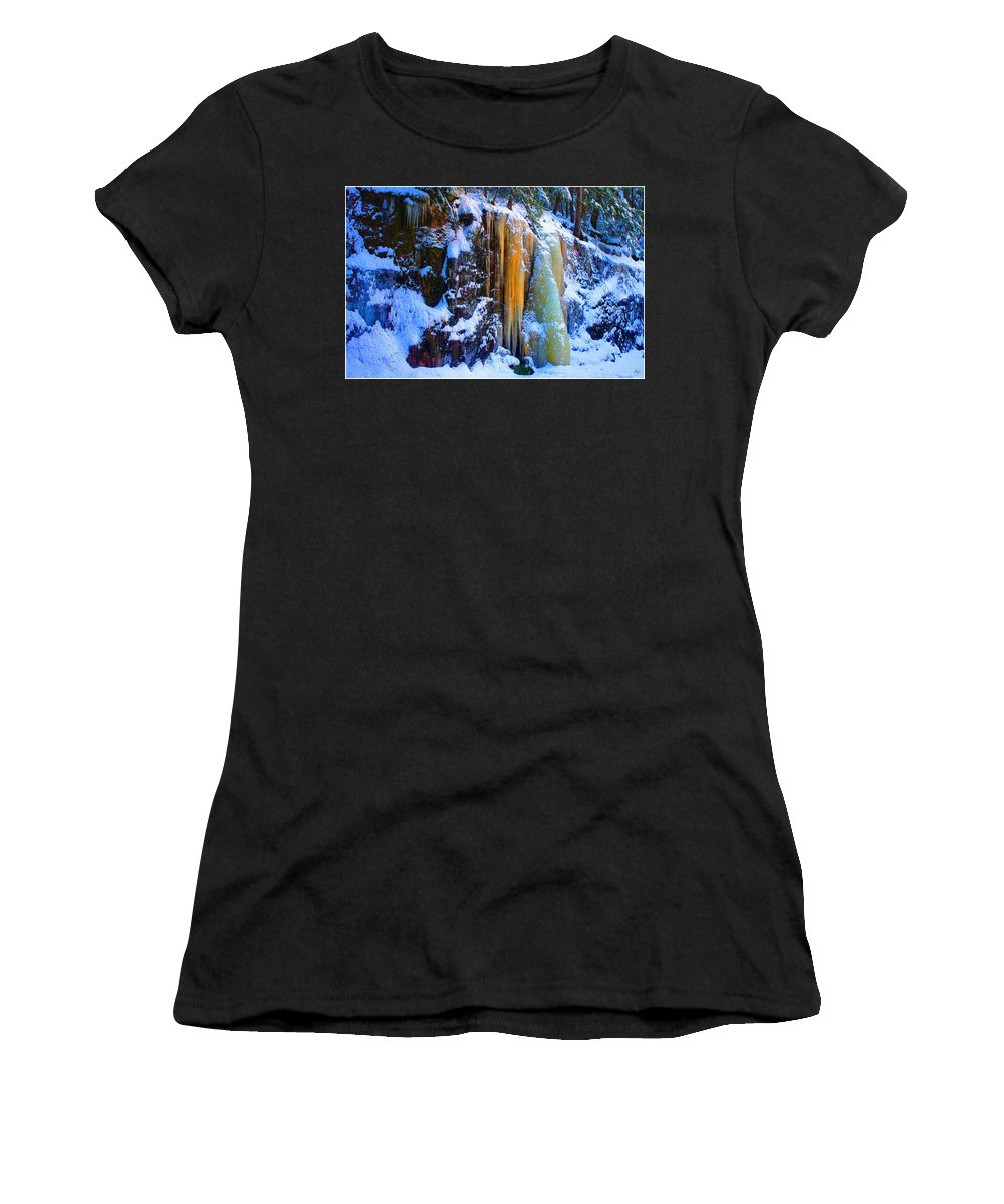 Gold Women's T-Shirt (Athletic Fit) featuring the photograph All That Is Gold by Wayne King