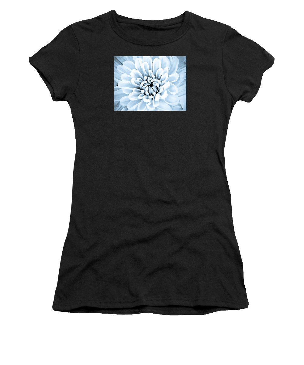 Blue Women's T-Shirt featuring the digital art Almost Perfect-blue by Lori Frostad
