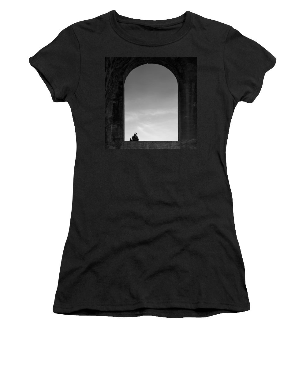Bird Women's T-Shirt (Athletic Fit) featuring the photograph Alone by Dave Bowman