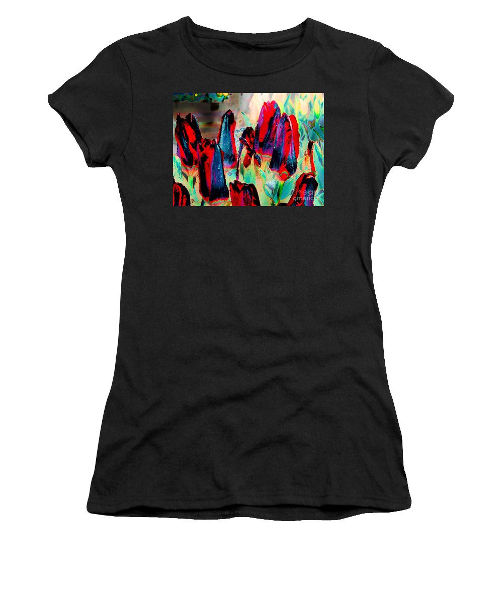 A1photo Women's T-Shirt featuring the photograph Altered States 10229 by Michael Wayman