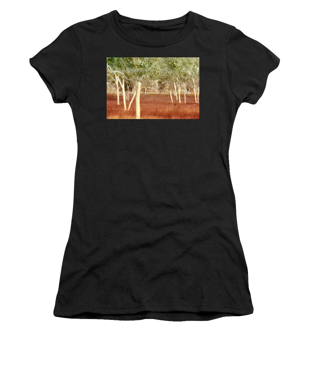 Landscape Women's T-Shirt featuring the photograph And The Trees Danced by Holly Kempe