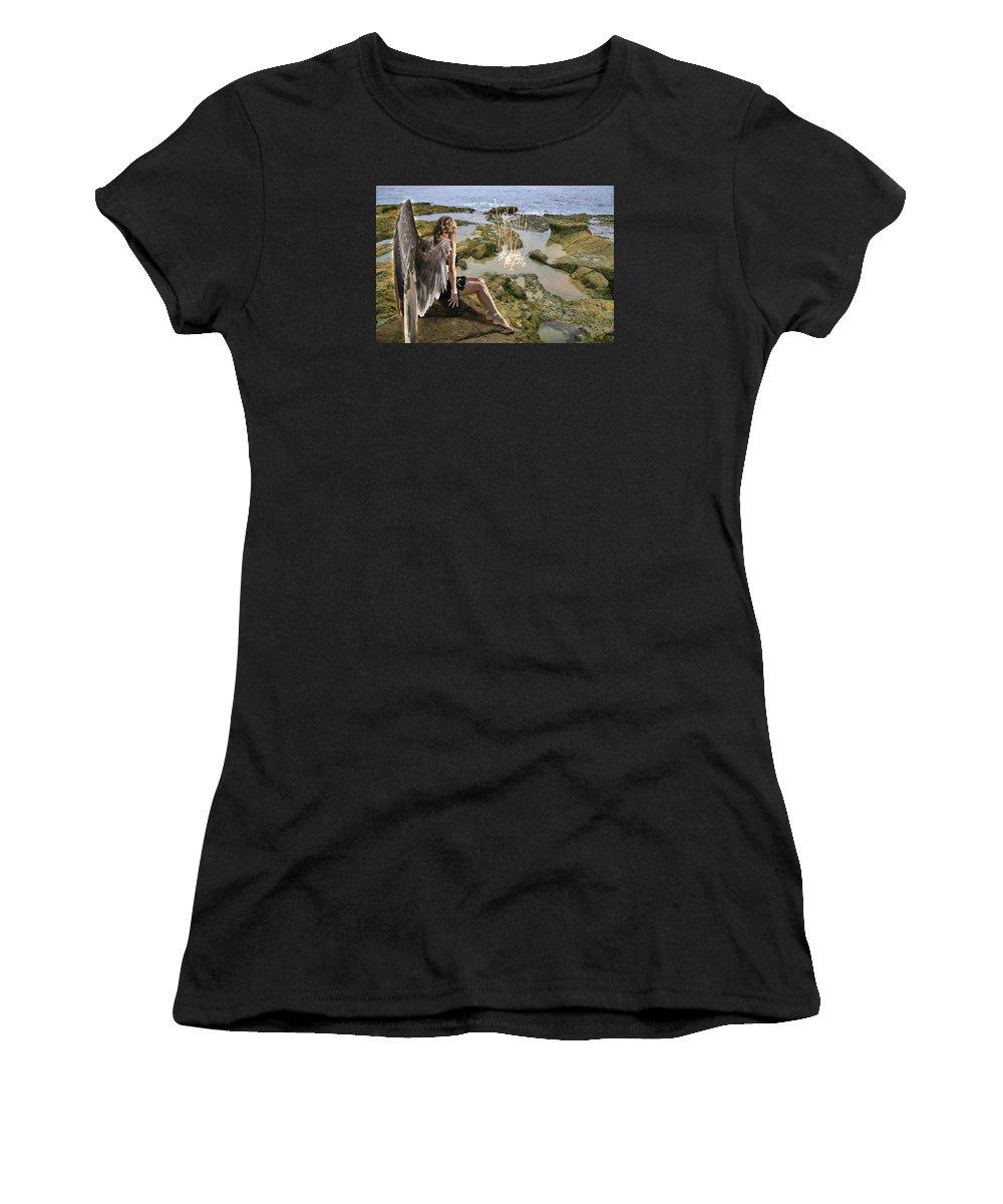 Alex-acropolis-calderon Women's T-Shirt featuring the photograph Angels- His Spirit Will Comfort You by Acropolis De Versailles