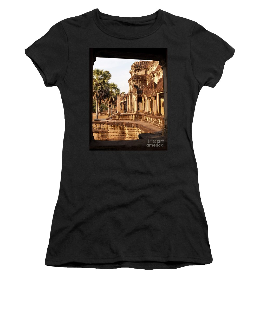 Cambodia Women's T-Shirt (Athletic Fit) featuring the photograph Angkor Wat 02 by Rick Piper Photography