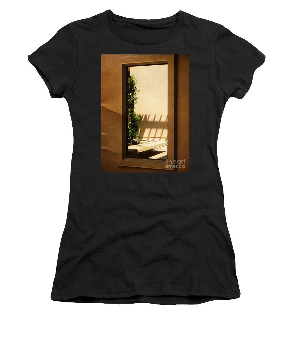 Window Women's T-Shirt (Athletic Fit) featuring the photograph Angled Reflections2 by Meghan at FireBonnet Art