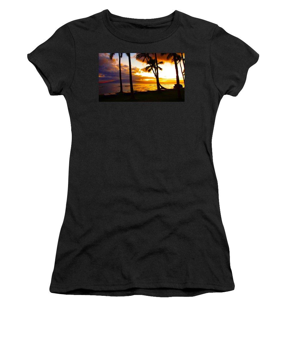 Maui Women's T-Shirt featuring the photograph Another Maui Sunset by John Dauer
