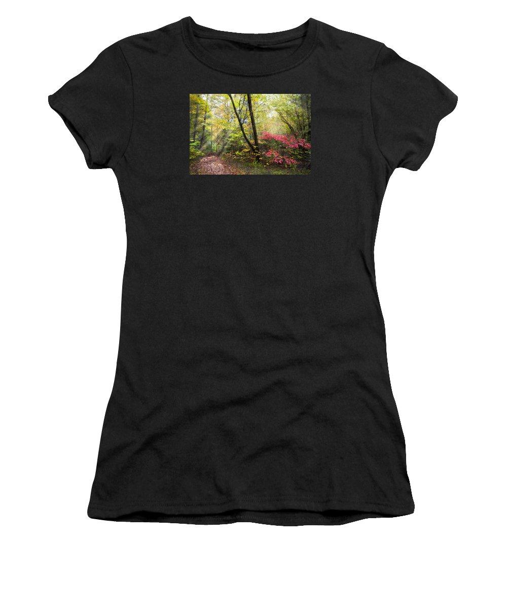 Appalachia Women's T-Shirt featuring the photograph Appalachian Mountain Trail by Debra and Dave Vanderlaan