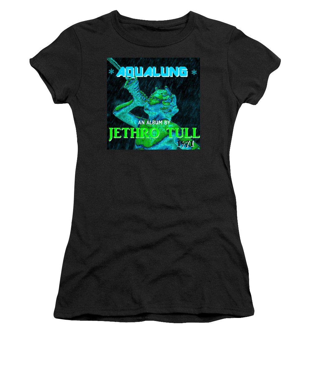 Aqualung Women's T-Shirt (Athletic Fit) featuring the painting Aqualung 1971 by David Lee Thompson
