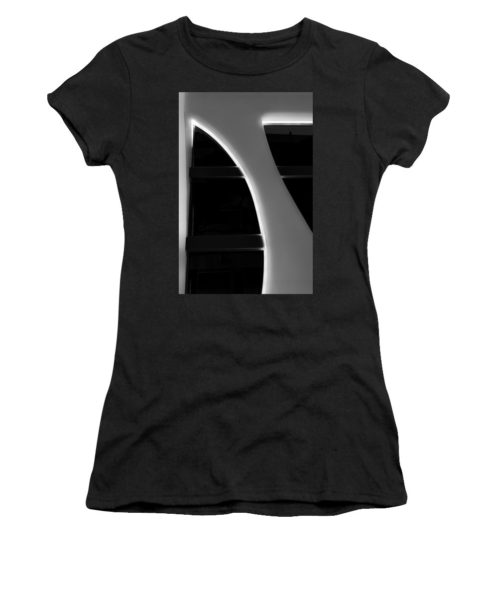 Architecture Women's T-Shirt (Athletic Fit) featuring the photograph Architecture In Black And White by Andrea Mazzocchetti