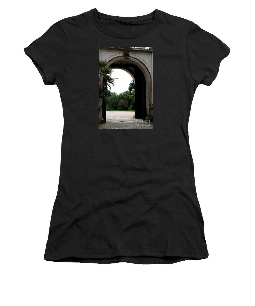 Archway Women's T-Shirt (Athletic Fit) featuring the photograph Archway Pillnitz Castle by Christiane Schulze Art And Photography