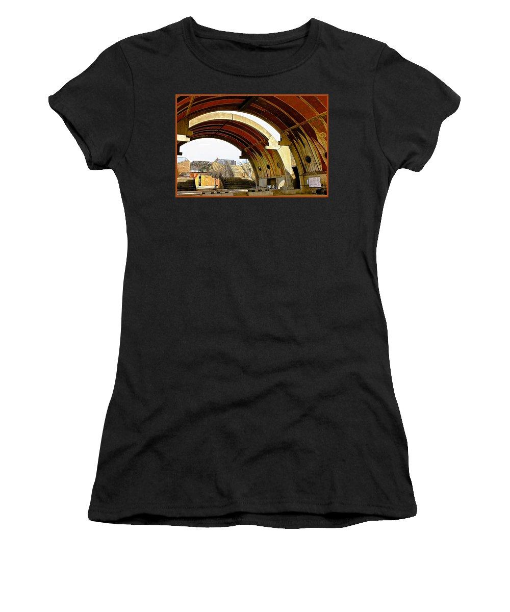Arcosanti Women's T-Shirt featuring the photograph Arcosanti by Barbara Zahno