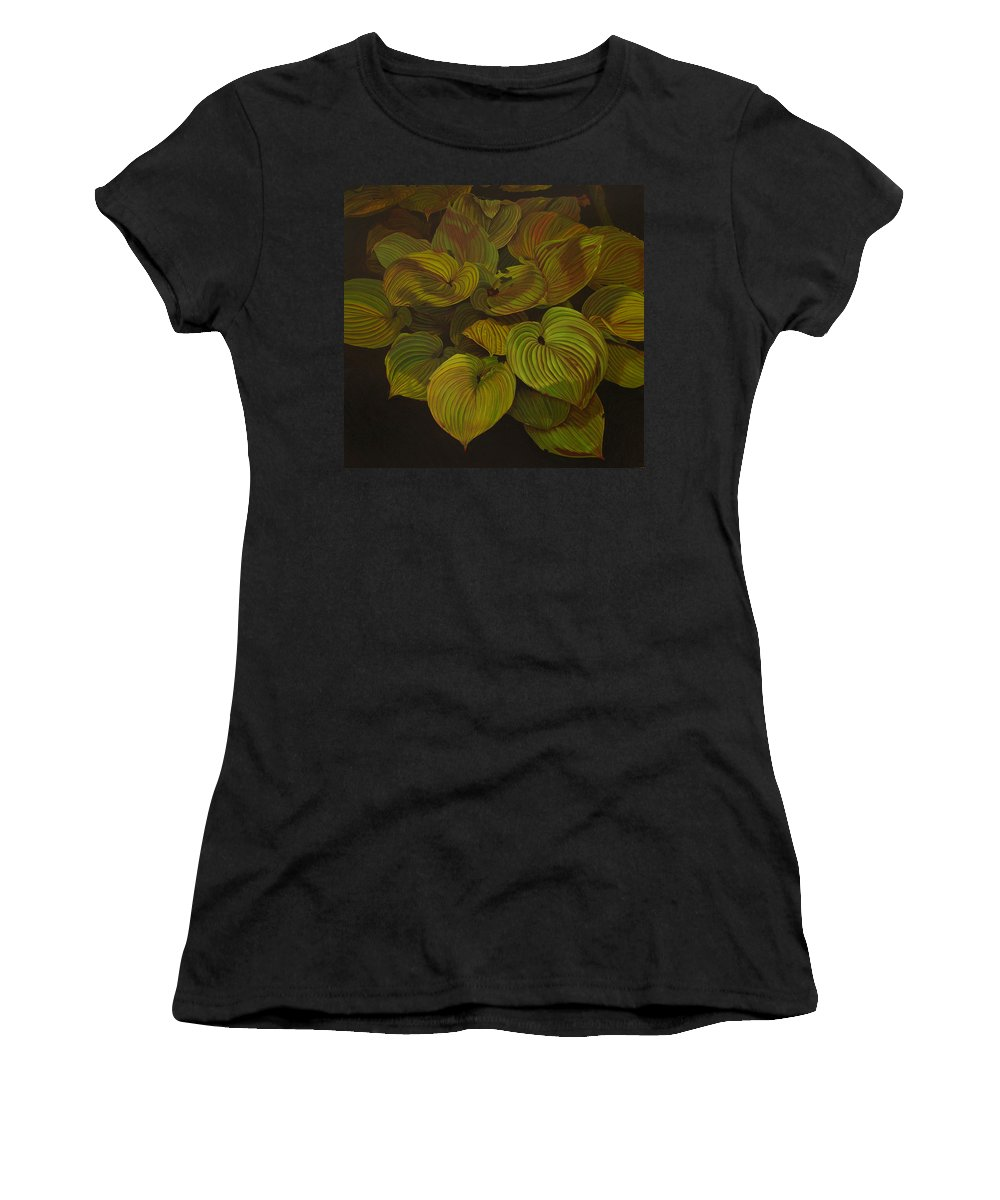 Plants Women's T-Shirt (Athletic Fit) featuring the painting Arkansas Green by Thu Nguyen