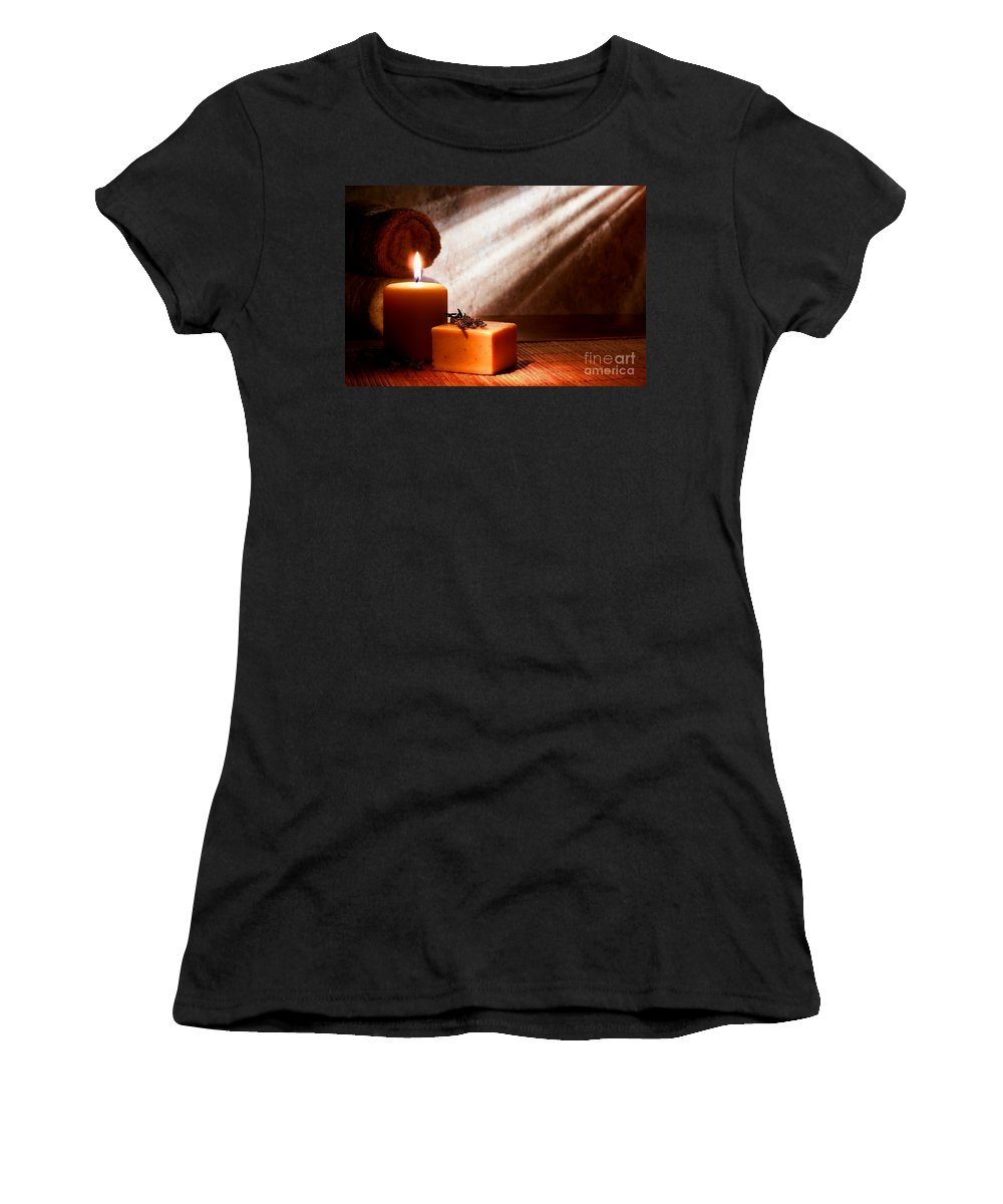 Aromatherapy Women's T-Shirt featuring the photograph Aromatherapy Bath Soap by Olivier Le Queinec