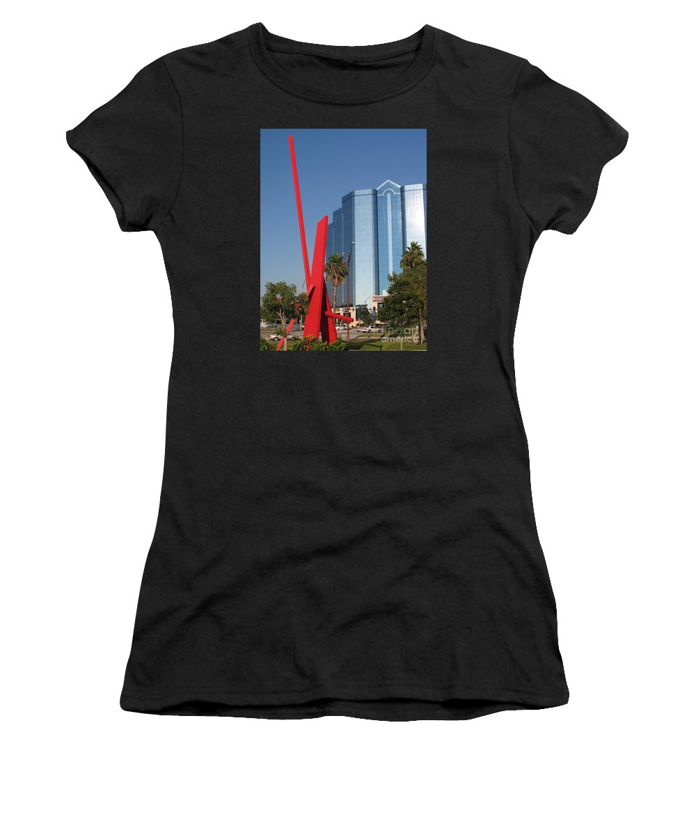 Art Women's T-Shirt featuring the photograph Art 2008 At Sarasota Waterfront II by Christiane Schulze Art And Photography
