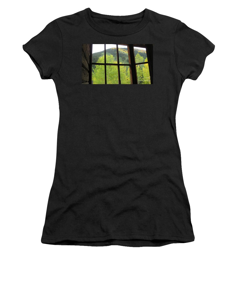 Ashcroft Women's T-Shirt featuring the photograph Aspens In Ashcroft by Tonya Hance