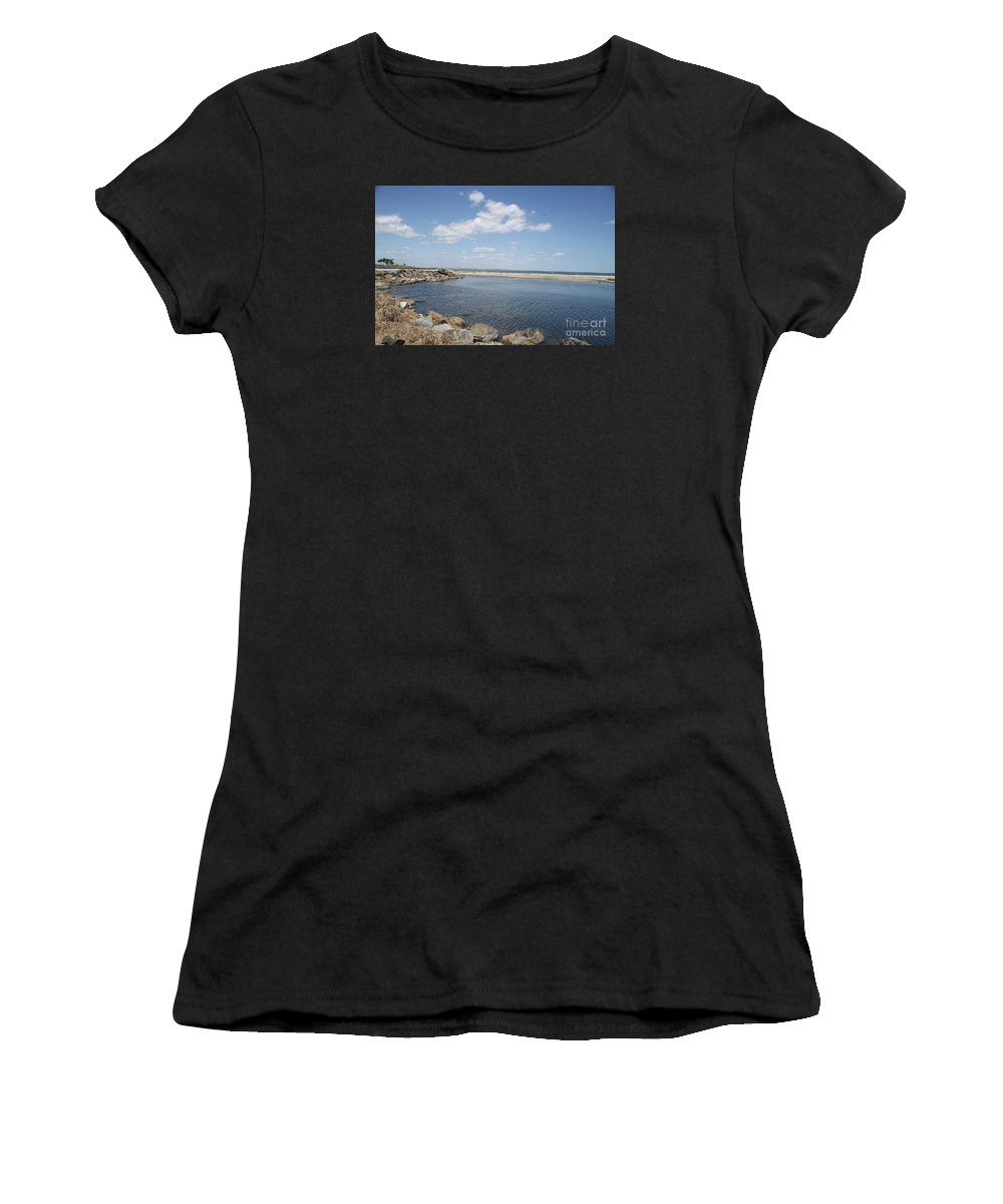 Bay Women's T-Shirt (Athletic Fit) featuring the photograph At The Bay by Christiane Schulze Art And Photography
