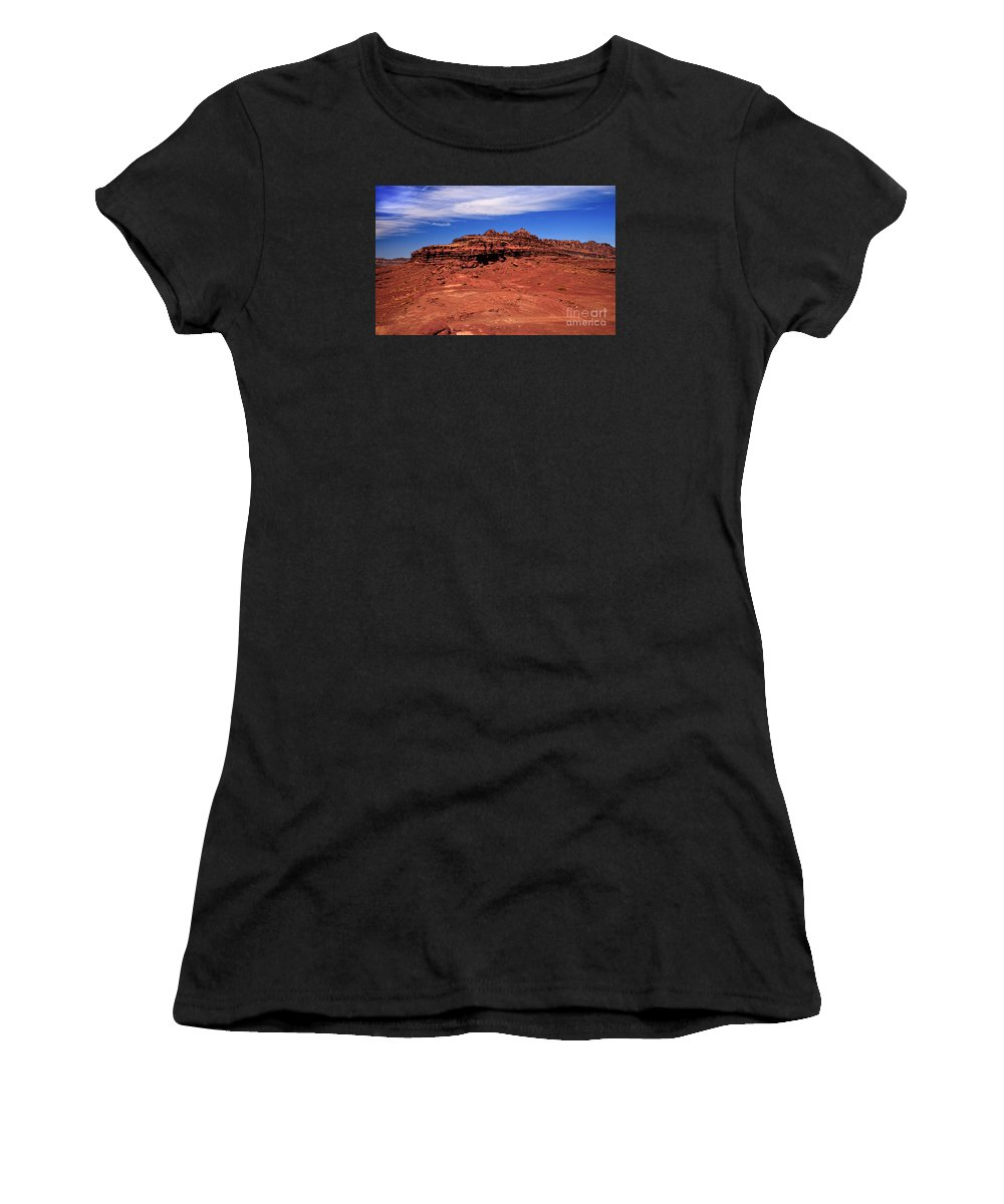 Landscape Women's T-Shirt featuring the photograph At The Top by Robert Bales