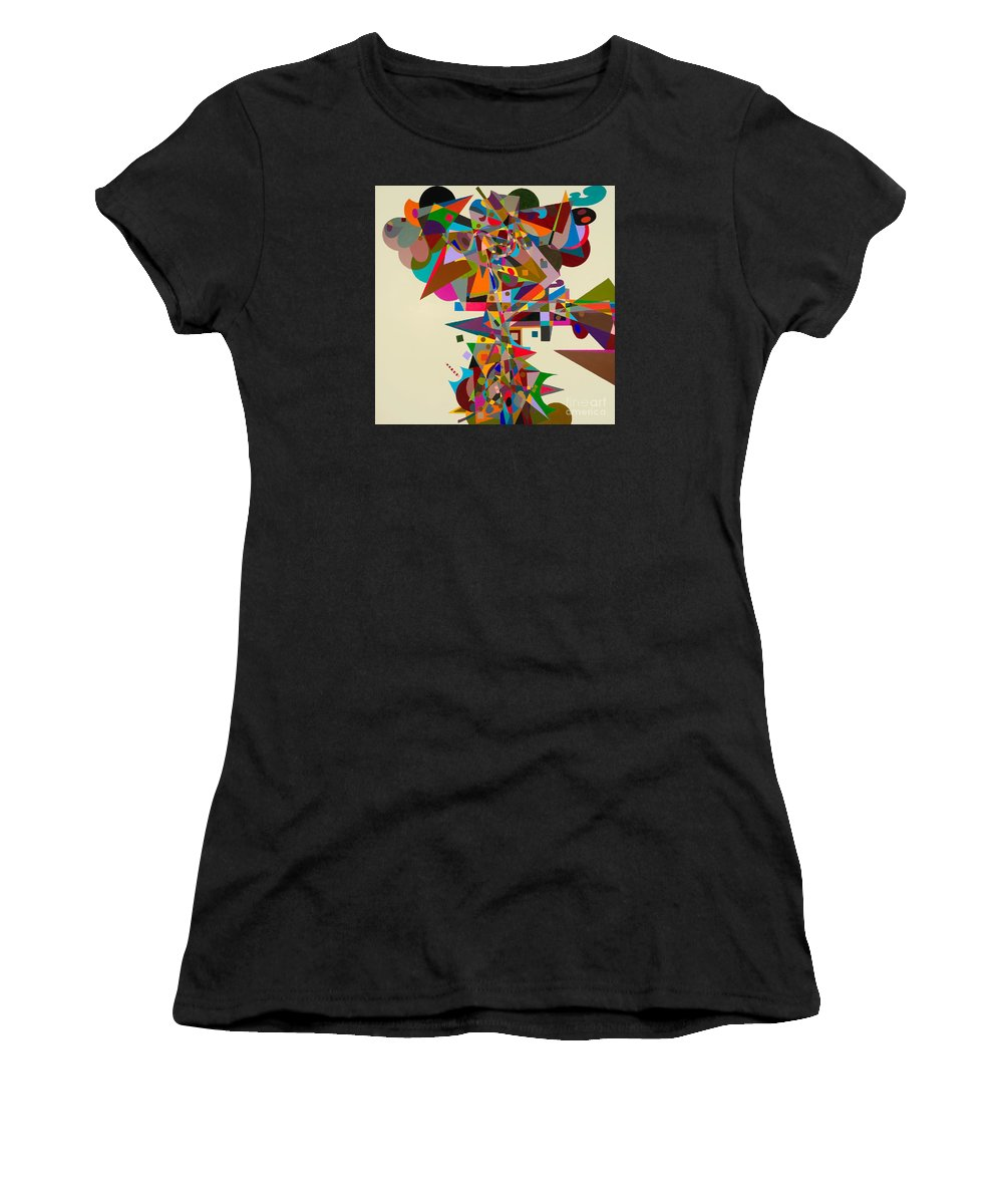 Landscape Women's T-Shirt (Athletic Fit) featuring the painting Atherton by Allan P Friedlander
