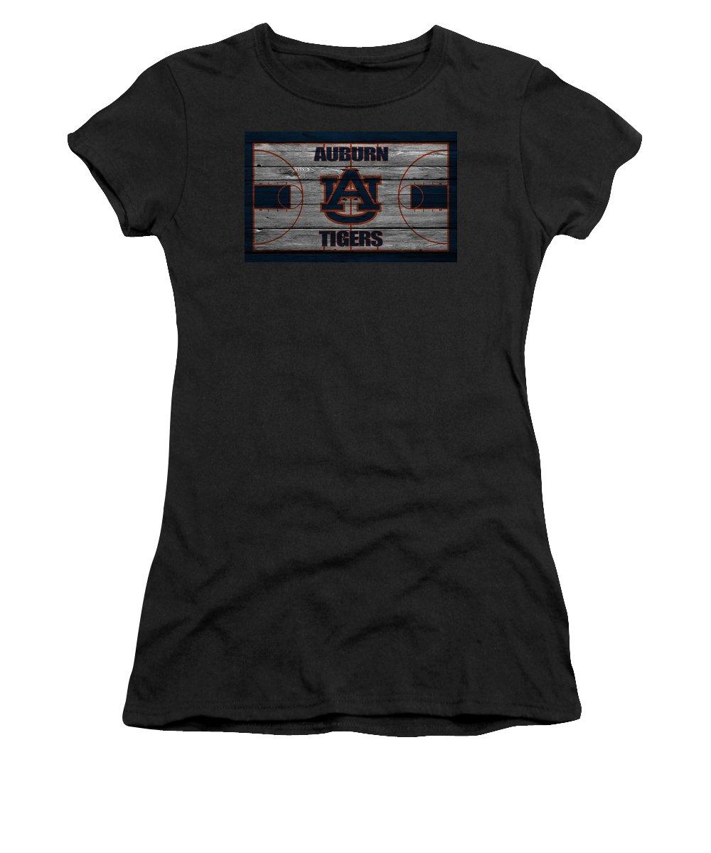 Tigers Women's T-Shirt featuring the photograph Auburn Tigers by Joe Hamilton