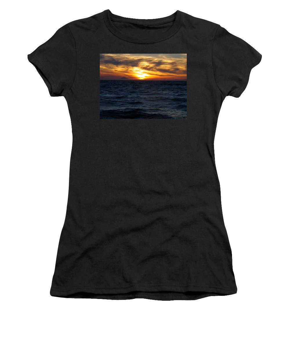 Alaska Women's T-Shirt (Athletic Fit) featuring the photograph Augustine Sleeps by Jeremy Rhoades