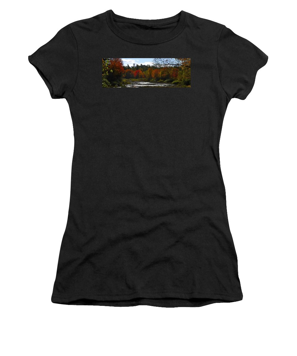 River Women's T-Shirt (Athletic Fit) featuring the digital art Autumn Dreaming Adwc by Jim Brage