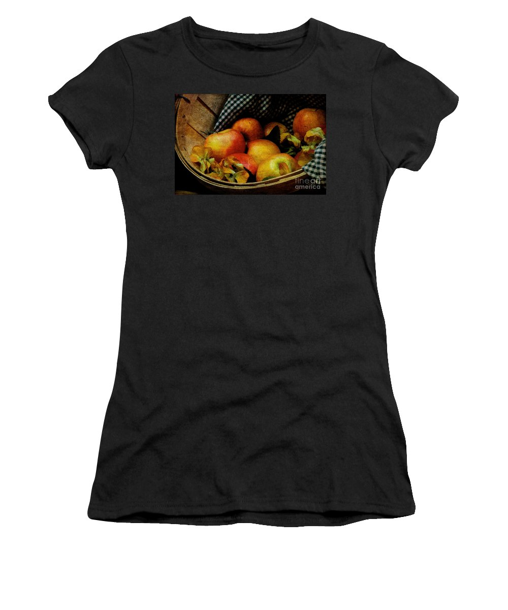 Halloween Women's T-Shirt (Athletic Fit) featuring the photograph Autumn Harvest by Lois Bryan