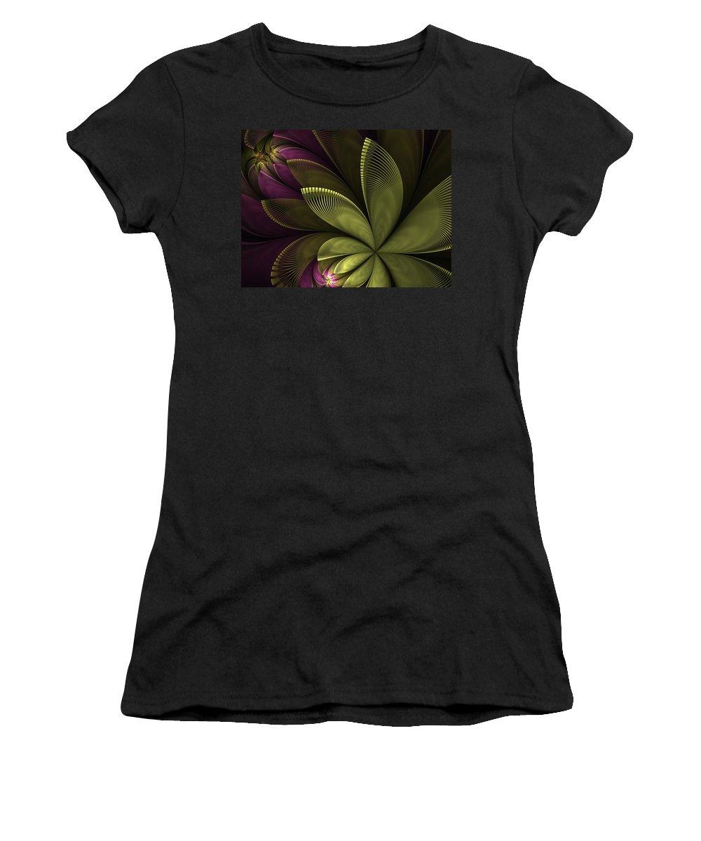 Flower Women's T-Shirt featuring the digital art Autumn Plant II by Gabiw Art